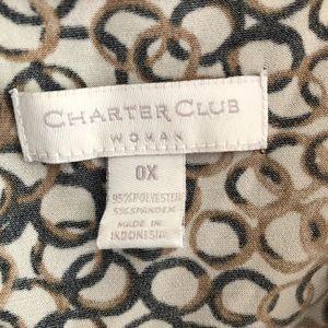 Charter Club Tops - Charter Club Cowl Neck Tank 0X